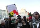 Al corteo con i senegalesi