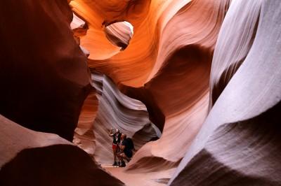 Là in un canyon