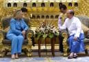 Hillary Clinton in Birmania