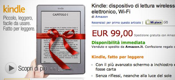 """7f28efe38dcbad Amazon ha messo in vendita giovedì mattina il suo """"Kindle italiano"""". Ovvero  lo stesso apparecchio che finora si poteva acquistare solo sulla versione  ..."""