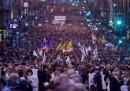 La protesta dei baschi a Bilbao