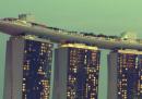 In caduta libera dal Marina Bay Sands