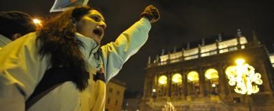 Le foto delle proteste a Budapest