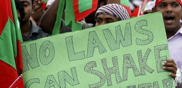 Muslim Maldives Protest