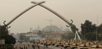 La parata militare a Baghdad