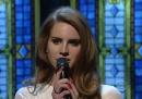 Lana Del Rey da Letterman, ieri sera