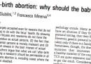 L'infanticidio e la libertà di discussione
