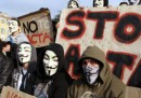Le proteste di ieri contro l'ACTA