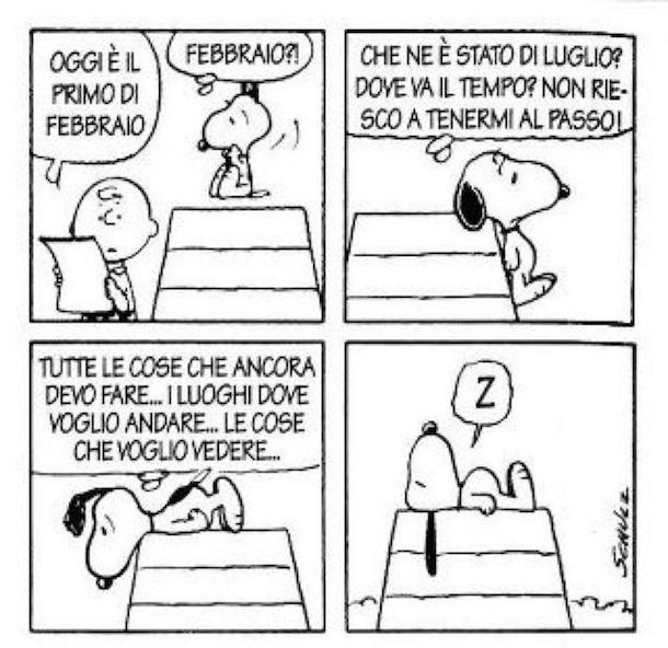 Snoopy e il tempo che corre il post for Posso ottenere un mutuo solo sulla terra