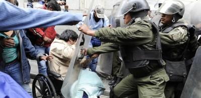 La protesta dei disabili in Bolivia