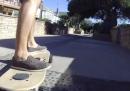 Skateboard a motore elettrico