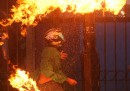 Le proteste per il caro benzina in Indonesia