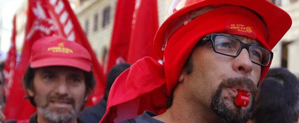 Home italia le foto della manifestazione della fiom a roma