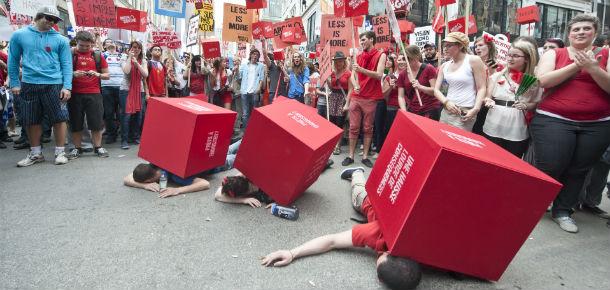 Protesta studenti Canada