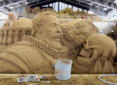 Le sculture di sabbia in Giappone dedicate al Regno Unito