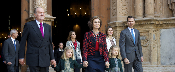Spanish Royals Attend Easter Mass in Palma de Mallorca