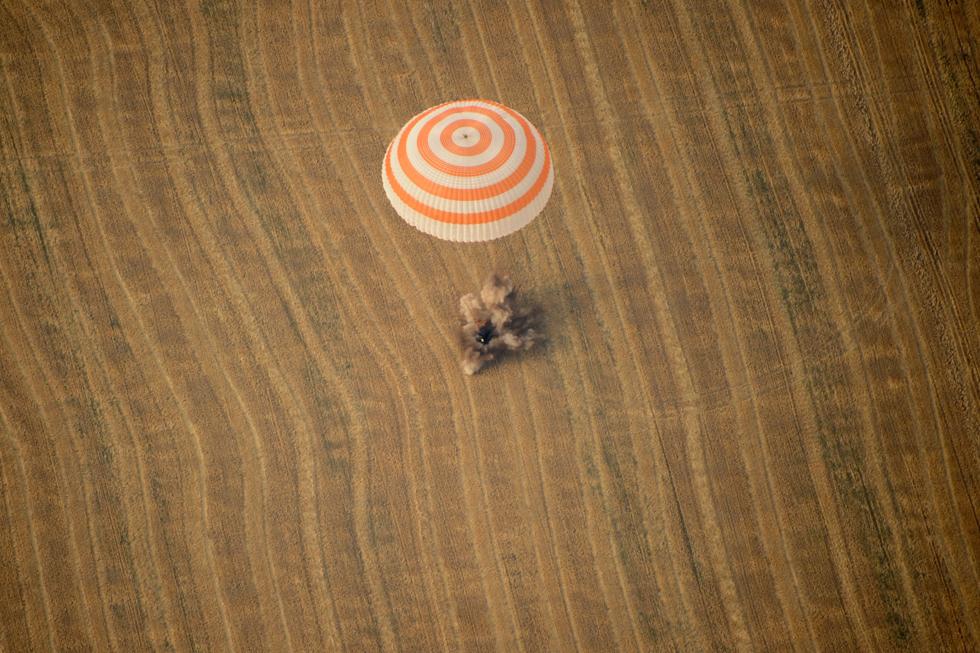 Il rientro della navicella Soyuz