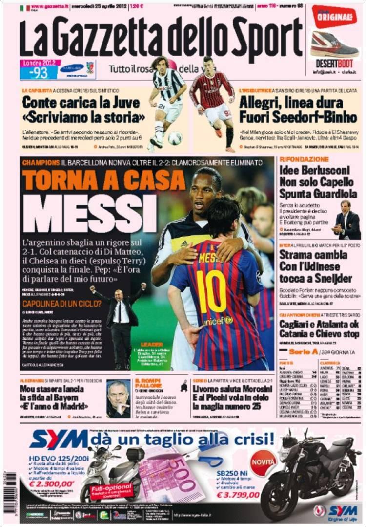 le prime pagine dei giornali sportivi internazionali dopo