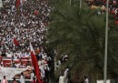 La marcia contro il GP del Bahrein