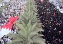 La foto della manifestazione di oggi in Bahrein, uomini e donne separati