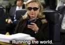 Gli SMS di Hillary Clinton