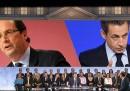 Sarkozy e Hollande, ieri in tv
