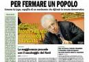 La prima pagina della Padania di oggi