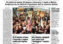 La prima pagina della Padania di venerdì 13 aprile