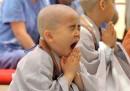 Foto di bambini buddisti, in Corea del Sud