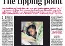 La prima pagina del Times di oggi
