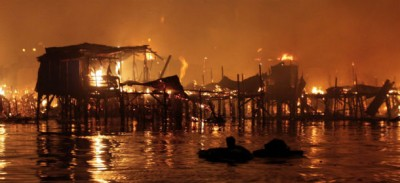 Le foto dell'incendio di Manila