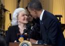 Barack Obama (50), Eunice David