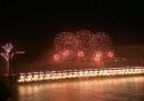 I fuochi d'artificio per l'anniversario del Golden Gate Bridge