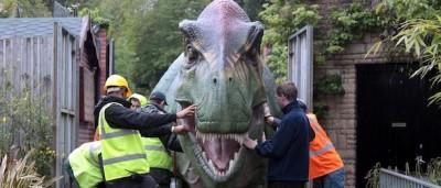 La mostra dei dinosauri meccanici di Bristol