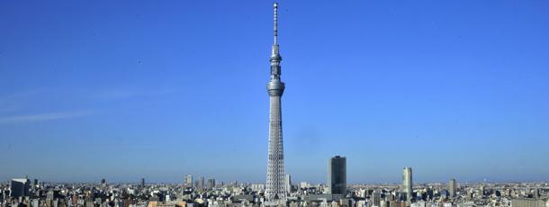 The 634-metre-tall Tokyo Sky Tree tower