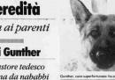 Il cane Gunther e <i>l'Unità</i>