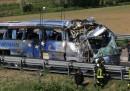 L'incidente del pullman sulla A13