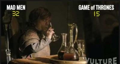 Si beve di più in Mad Men o in Game of Thrones?