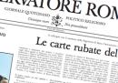 L'Osservatore Romano sulla questione delle carte vaticane