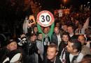 La festa dei tifosi della Juventus