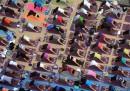 Yoga di massa a Times Square