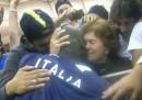 La foto di Balotelli che abbraccia la mamma dopo la partita