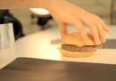 Un panino di McDonald's al trucco
