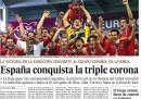 Le prime pagine dei giornali spagnoli