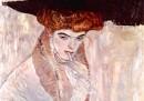 Donna con capello nero, 1910, olio su tela