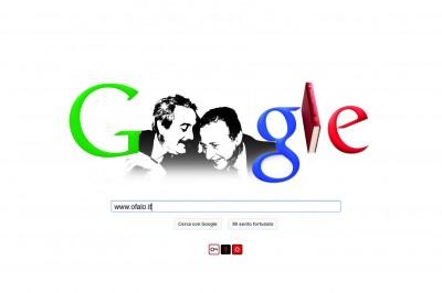 Il doodle (apocrifo) di Google su Falcone e Borsellino