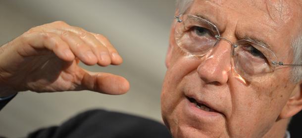 Italian Prime Minister Mario Monti speak