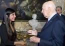 L'incontro tra Rossella Urru e Giorgio Napolitano