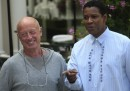 US actor Denzel Washington (R) and Briti