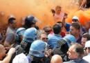 Proteste e scontri oggi a Taranto